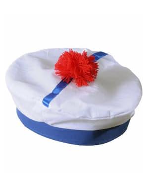 Biały kapelusz francuskiego marynarza