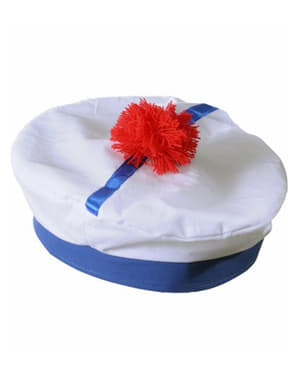 White French Sailor Hat