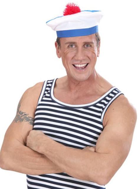 Sombrero blanco de marinero francés - para tu disfraz