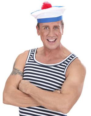 Sombrero blanco de marinero francés