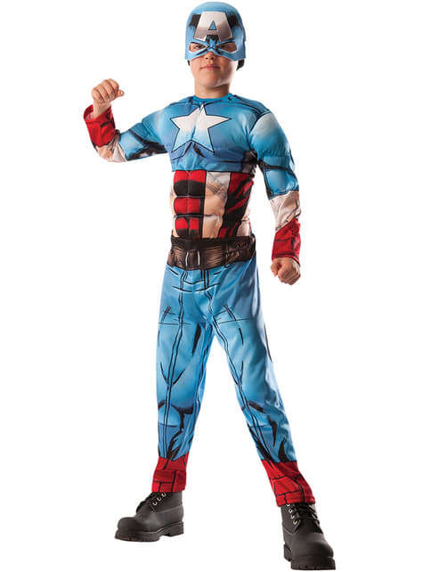 Hulk Captain America reversible costume for a boy