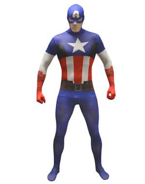 Klassisk Captain America Morphsuit Maskeraddräkt