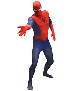 Klassisk Spiderman Morphsuit Maskeraddräkt