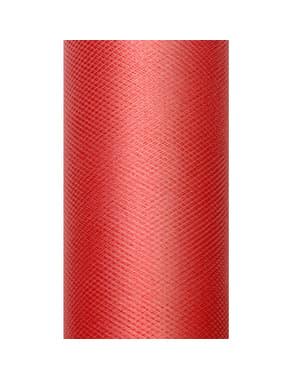 Rotolo di tulle rosso di 50cm x 9m