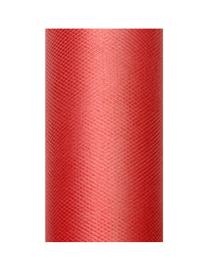 Rouleau de tulle rouge de 50cm x 9m