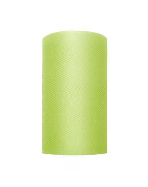 Ролка от тюл в светло зелено с размери 8см х 20м