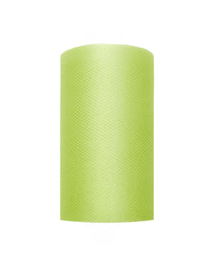Roll of tulle in light green measuring 8cm x 20m