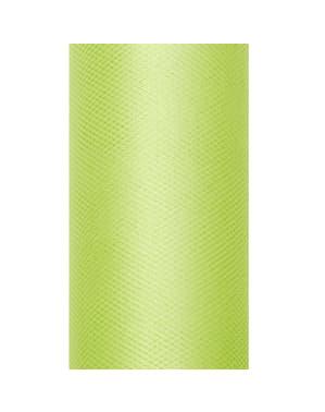 Rull med tyll i lysegrønn med mål på 8cm x 20m