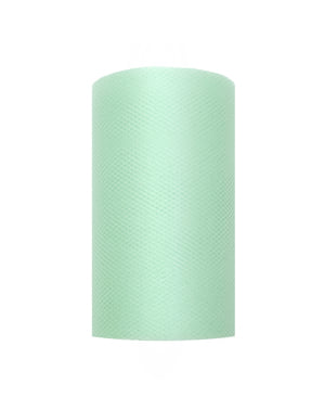 Roll of tulle in mint green measuring 8cm x 20m