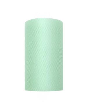 Rolo de tule verde menta de 8cm x 20m