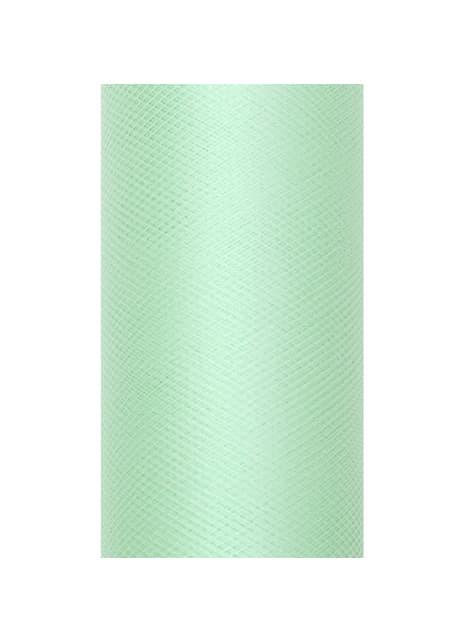 Rollo de tul verde menta de 8cm x 20m - para tus fiestas