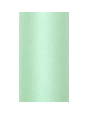 רול של טול ב 20m x 8cm מדידה ירוק מנטה