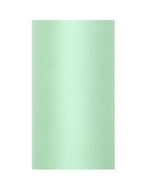 Валяк от тюл в зелен цвят с размери 8см х 20м