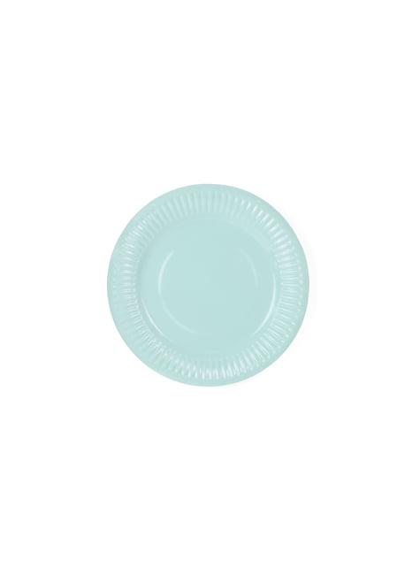 6 platos azules turquesa (18cm) - Aloha Turquoise