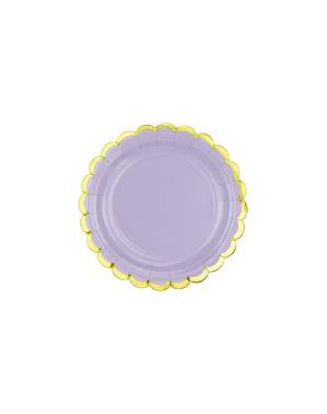 6 Pastel Purple Paper Plate (18 cm) - Yummy