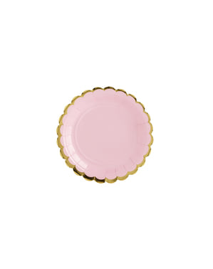 6 Pastel Pink Paper Plate (18 cm) - Yummy