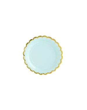 6 Mint Green Paper Plate (18 cm) - Yummy