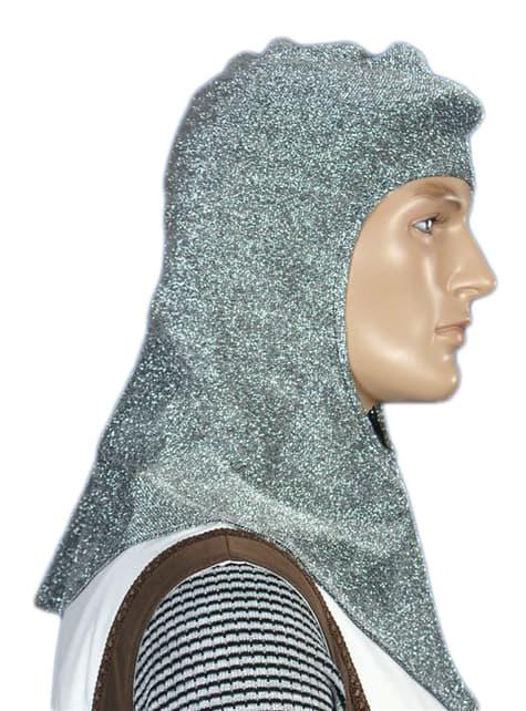 Camail médiéval argent homme