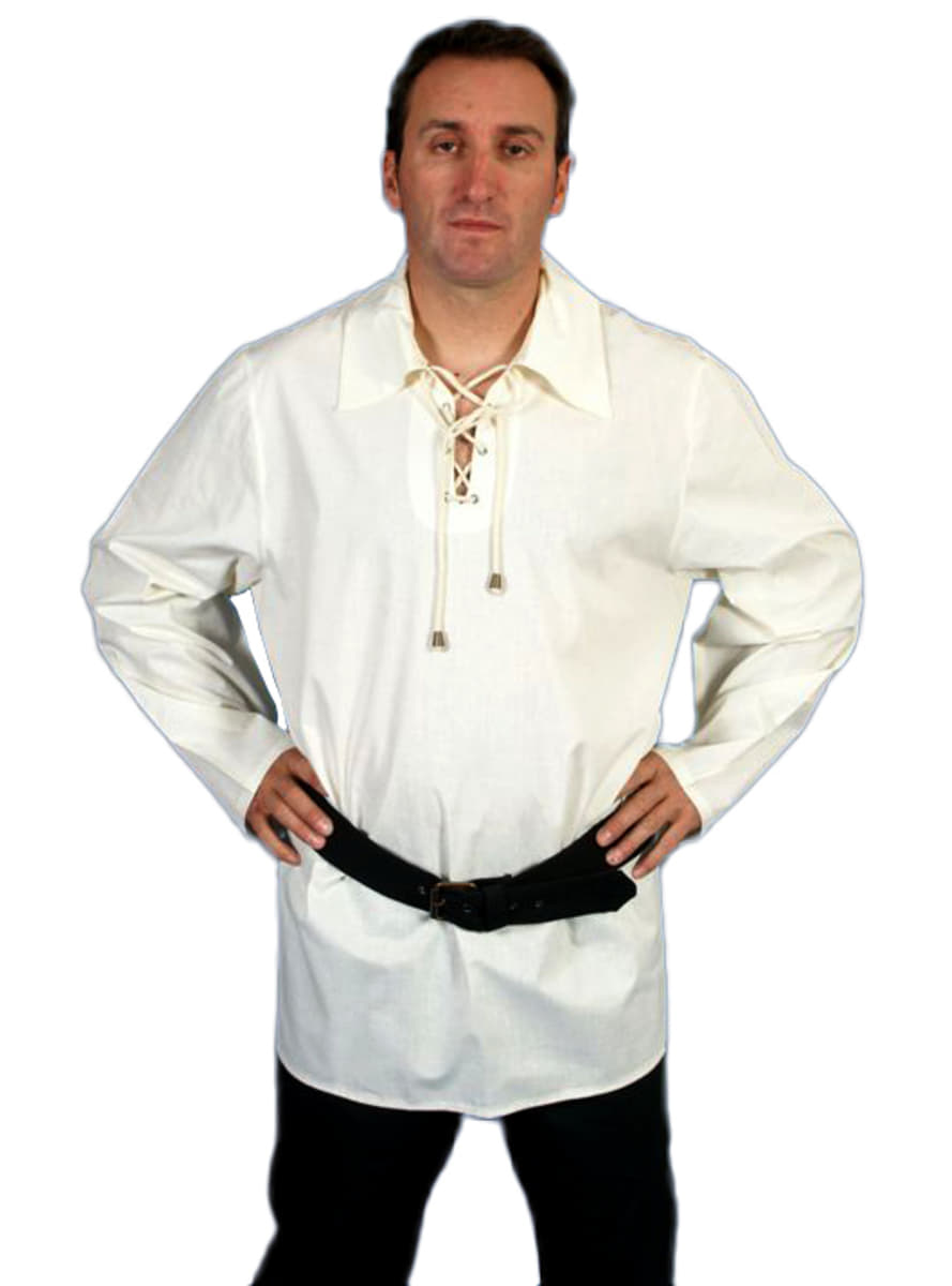 hemd mit kragen aus baumwolle mittelalter f r kost m. Black Bedroom Furniture Sets. Home Design Ideas