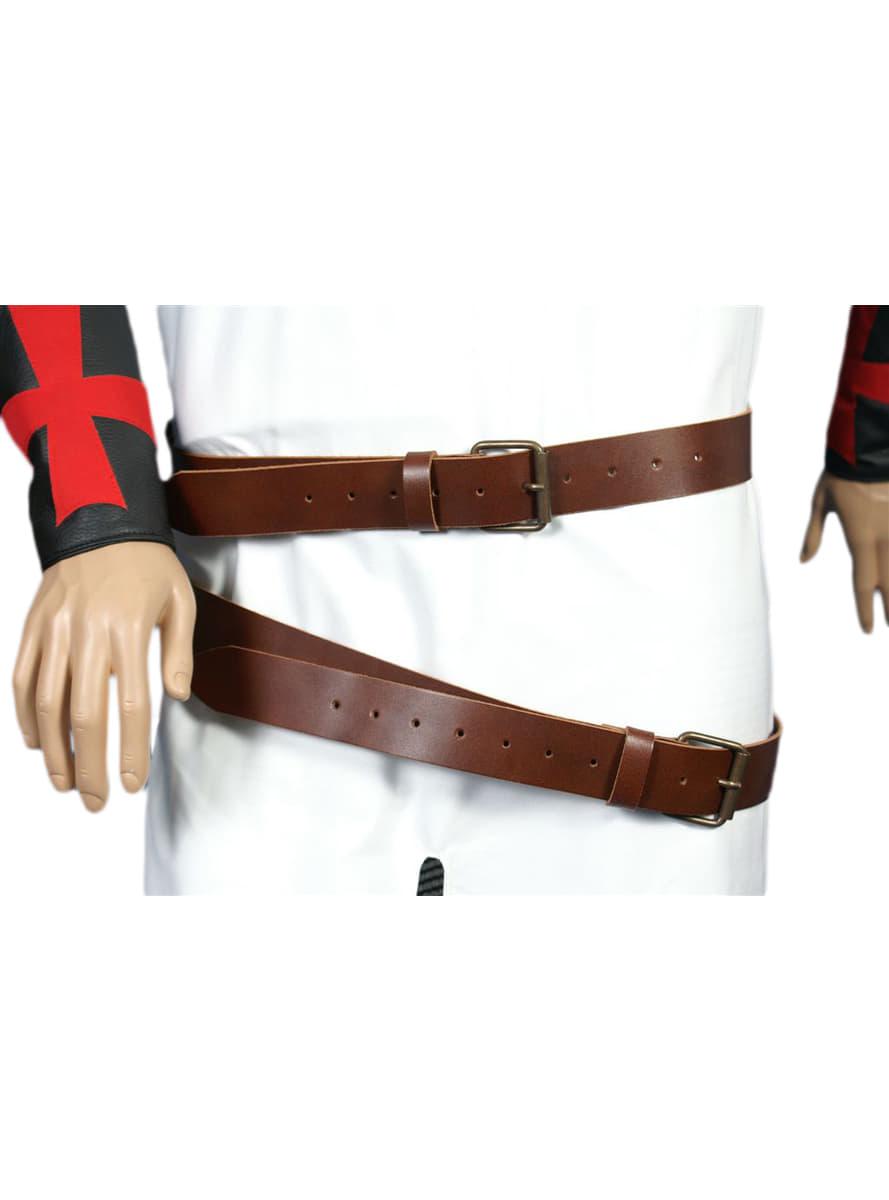 Cintura medievale doppia di cuoio uomo consegna express - Cintura di contenzione letto ...