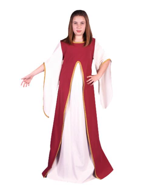 Girls medieval Minerva costume