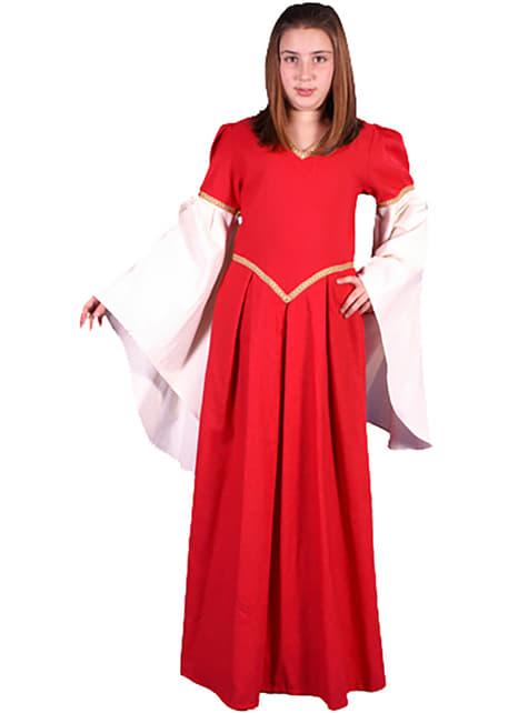 Disfraz de Nesa medieval para adolescente