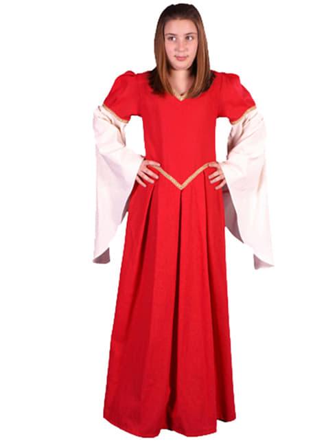 Disfraz de Nesa medieval para adolescente - niña