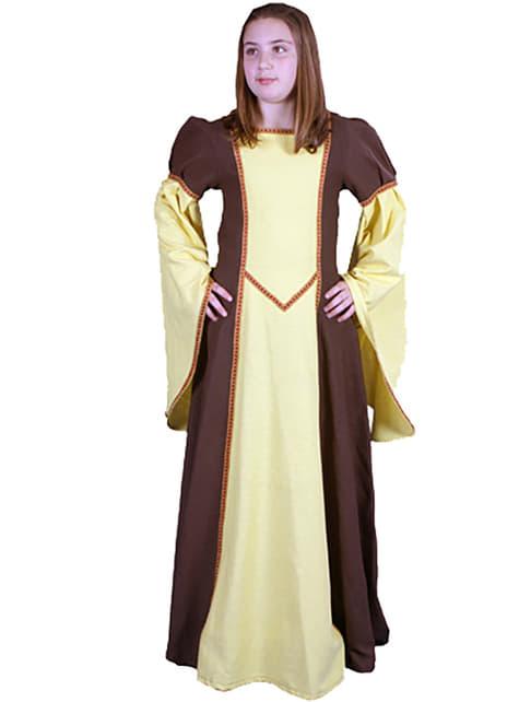 Disfraz de Alaris medieval para niña - niña