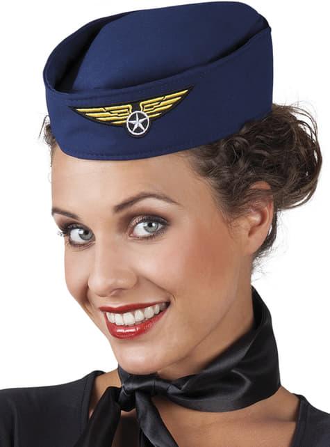Sombrero de azafata sexy para mujer