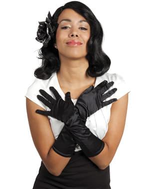 Gants Monte Carlo noirs femme