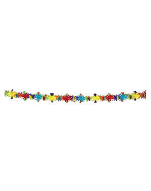 Fargerik dekorativ krans med blomster