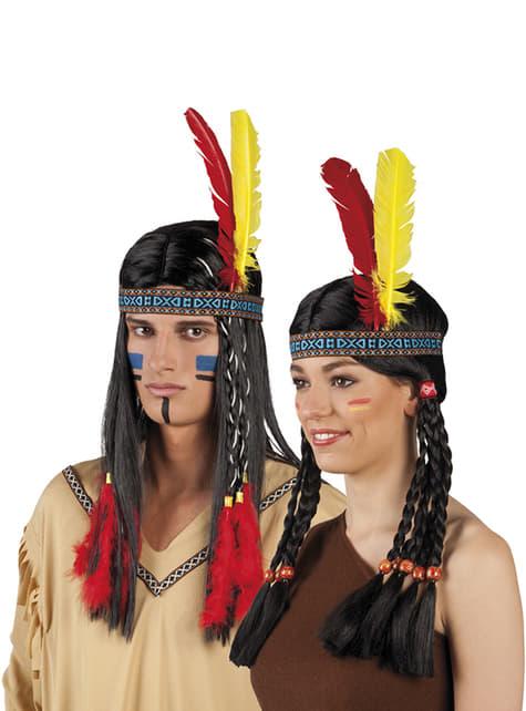 Unisex domorodá čelenka pre indiánov