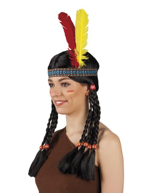 Unisex tribal Amerindian headdress