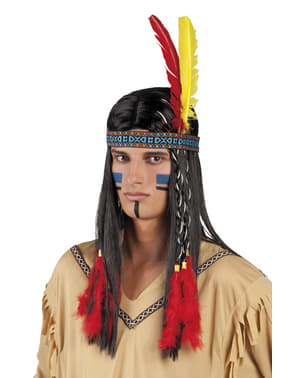 Unisex tribal Amerindian headdress