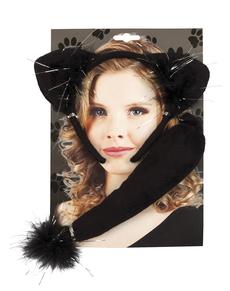 Accessoires set kat voor vrouwen