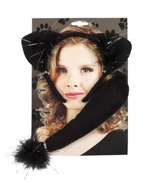 Katzen Kostüm Set für Erwachsene