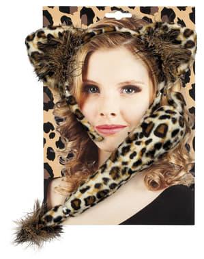 Kit acessórios de leopardo para mulher