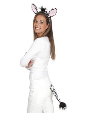 Kit accesorios de cebra para mujer
