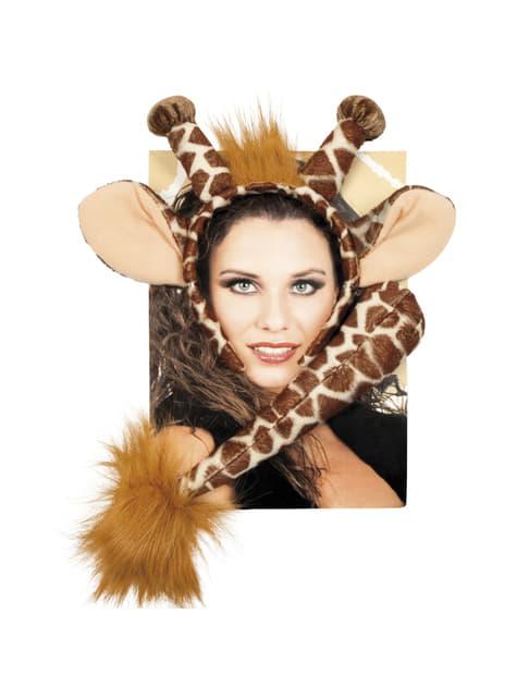 Accessoires set giraf voor vrouw