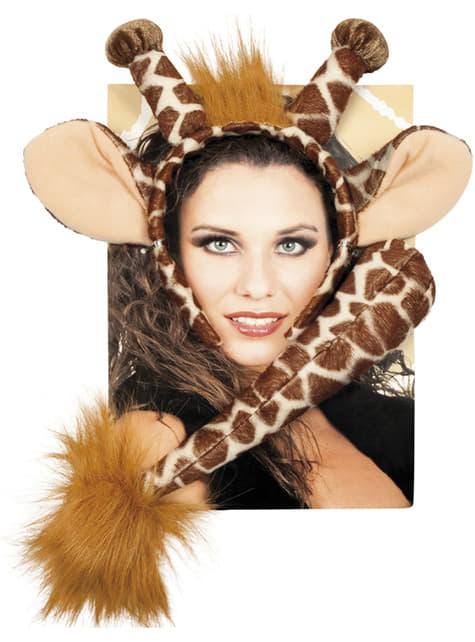 Kit acessórios de girafa para mulher