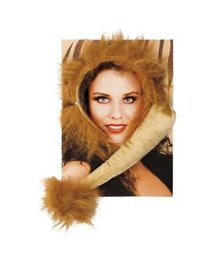 Löwen Accessoire Set für Damen