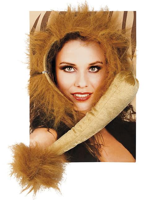 Accessoires set leeuw voor vrouw