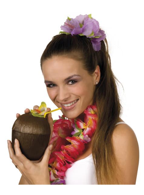 Кружка у формі кокосу з соломою