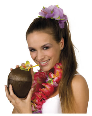 Coconut cup and straw set