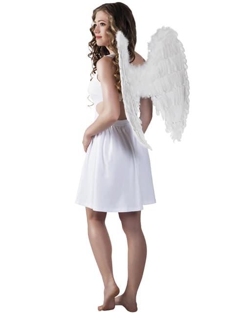 Witte engelvleugels voor vrouw