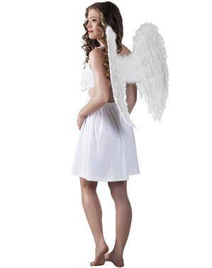 Asas de anjo branco para mulher