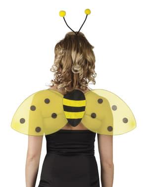 Kit aripi și diademă de albinuță pentru femeie