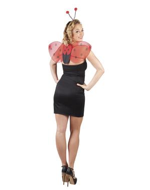 Kit aripi și diademă de buburuză pentru femeie