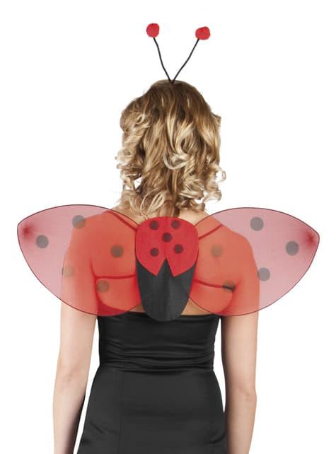 Marienkäfer Flügel und Krone Set für Damen