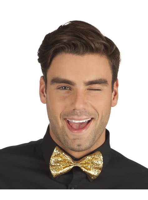 Pajarita dorada para hombre - para tu disfraz
